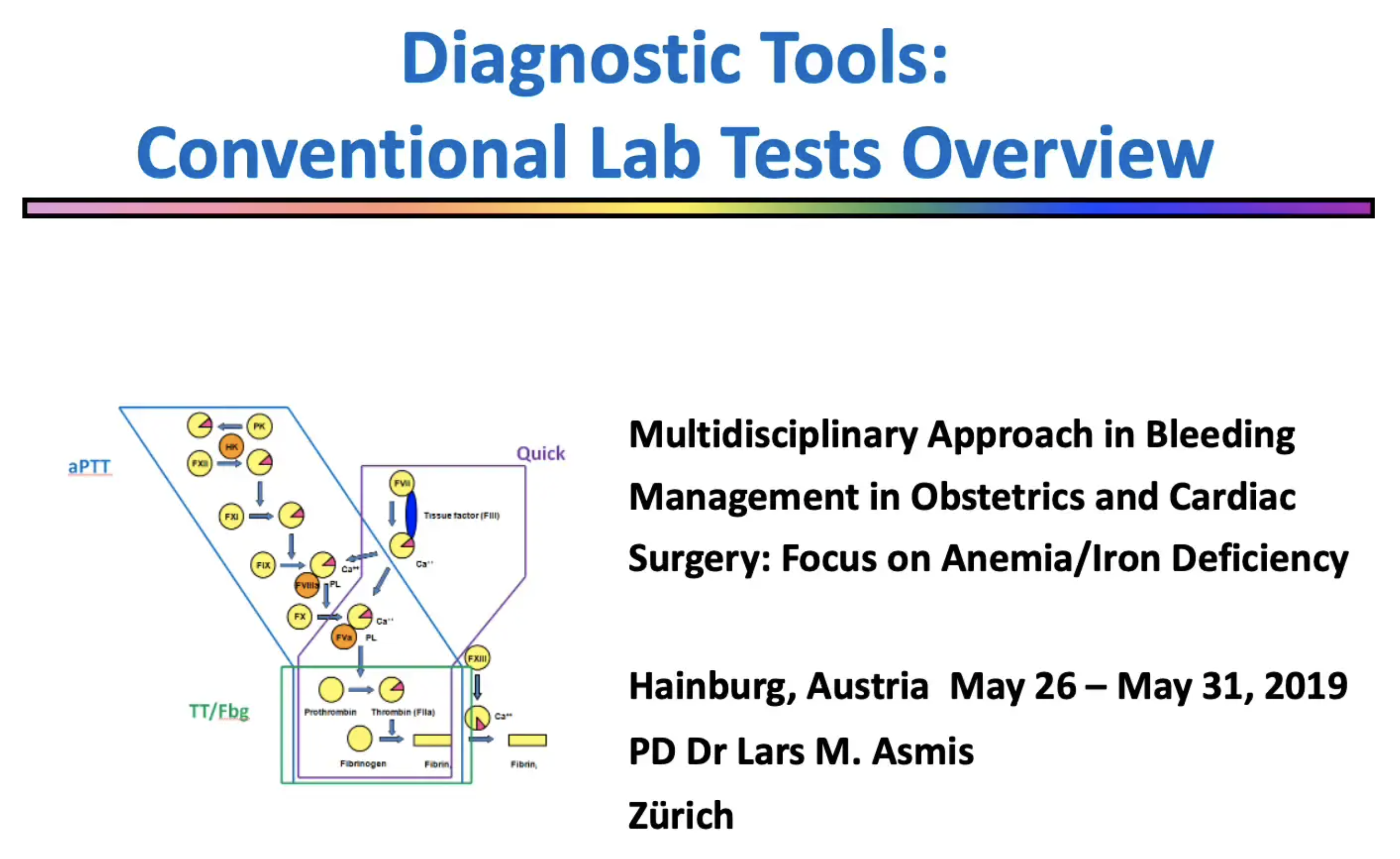 Lars Asmis – Diagnostic Tools – Conventional Lab Tests