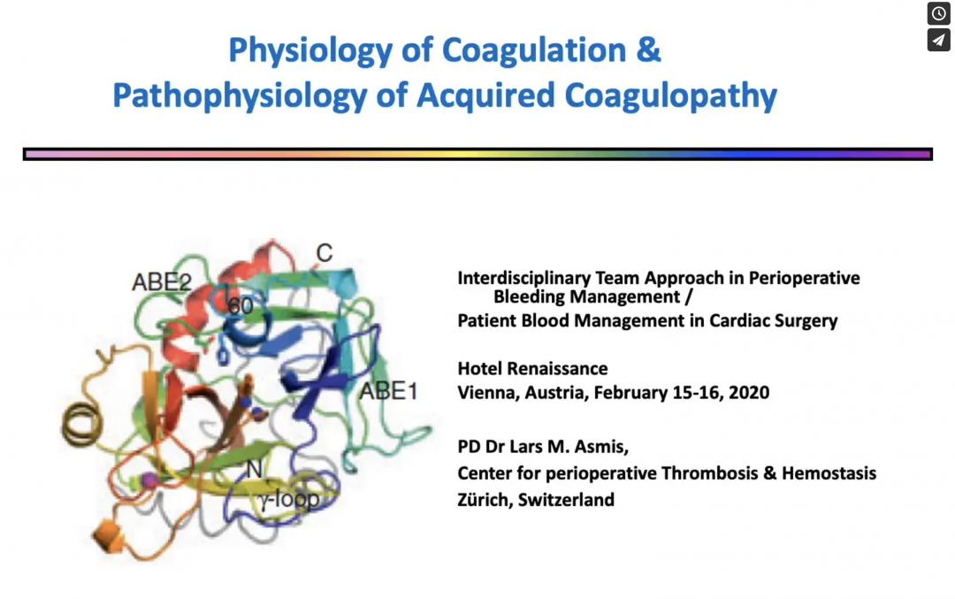 POB PBM in ECMO ECLS Physiology of Coagulation & Pathophysiology of Acquired Coagulopathy
