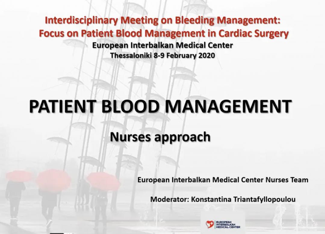 Patient Blood Management - Nurses Approach