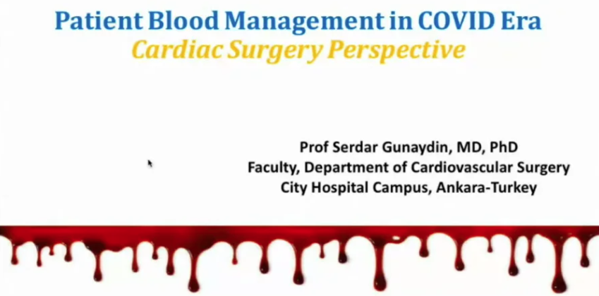 Patient Blood Management in COVID Era - Cardiac Surgery Perspective