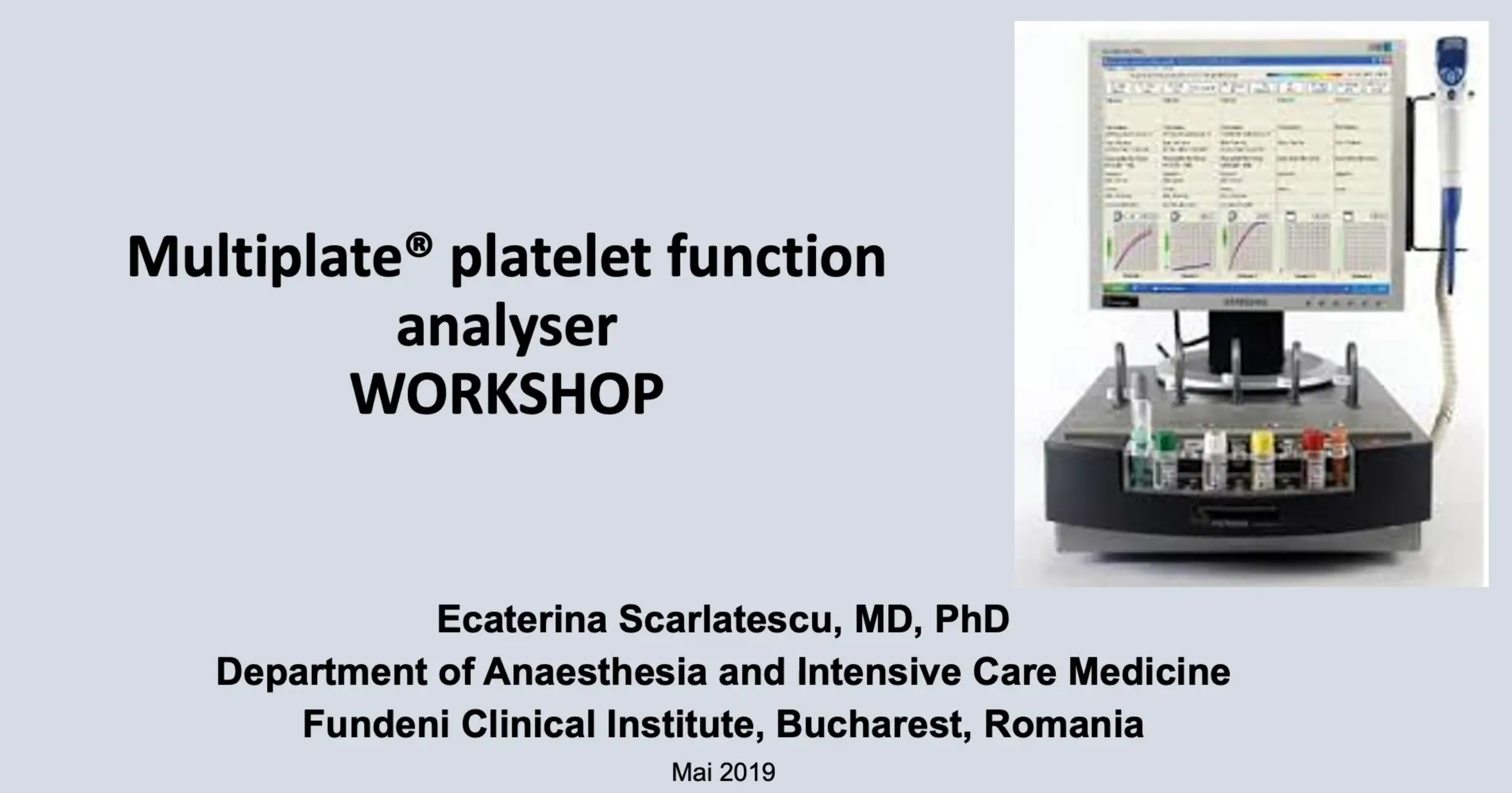 multiplate platelet function workshop katy