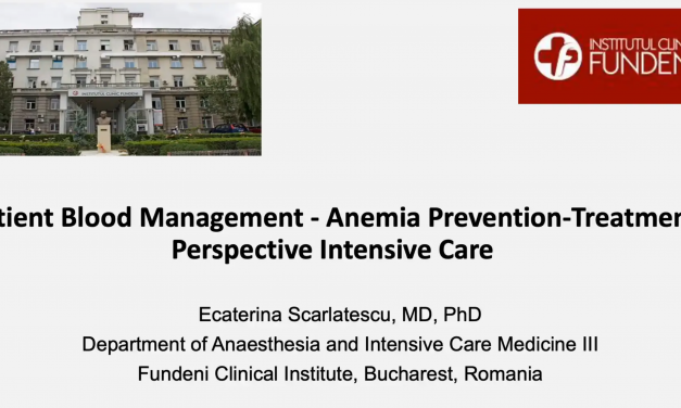 PBM – Anemia Prevention –Treatment Perspective Intensive Care