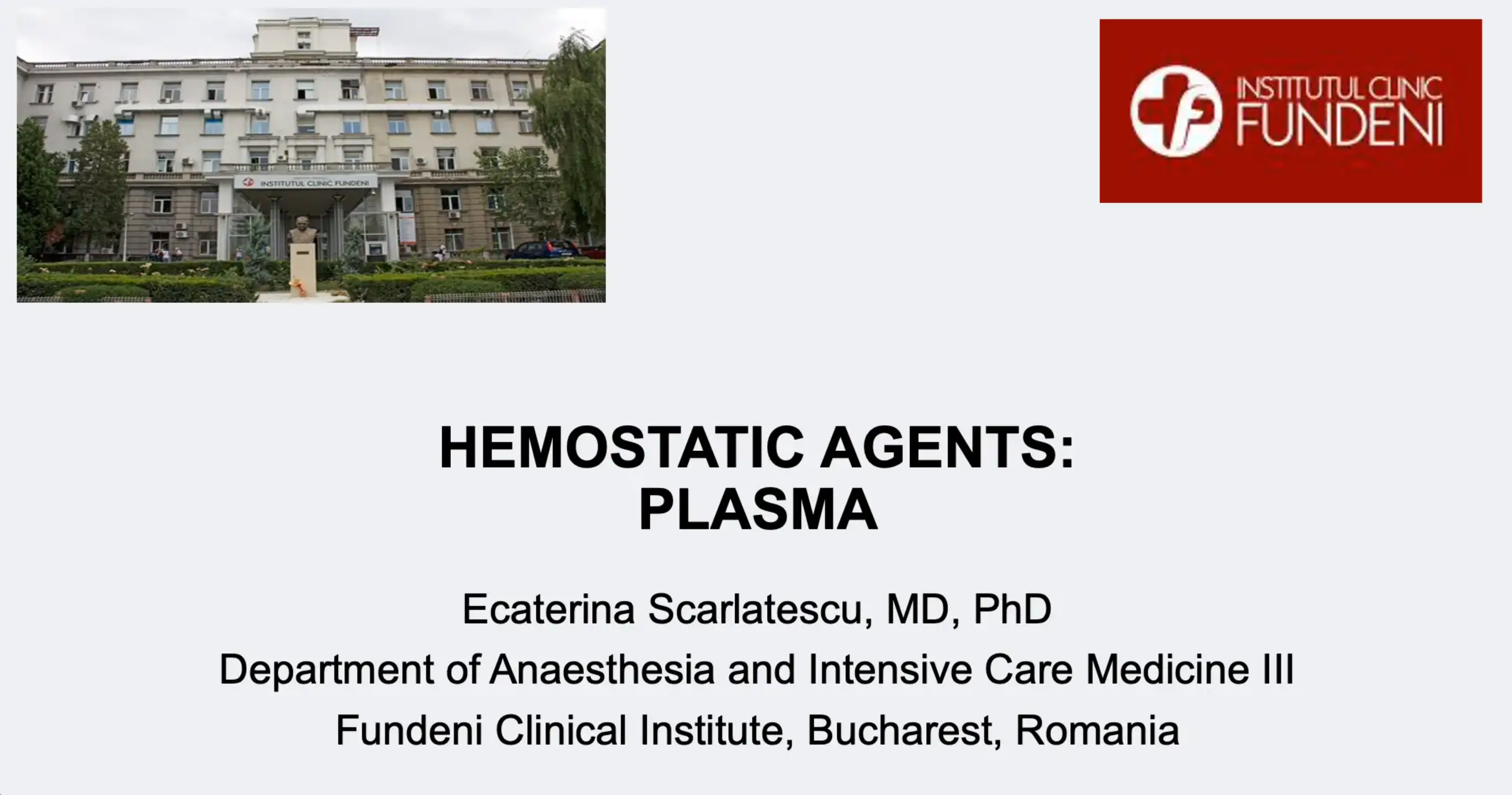 Haemostatic Agents - Plasma Katy