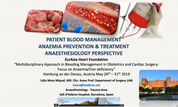 PBM – Anemia Prevention – Treatment Anesthesiology Perspective