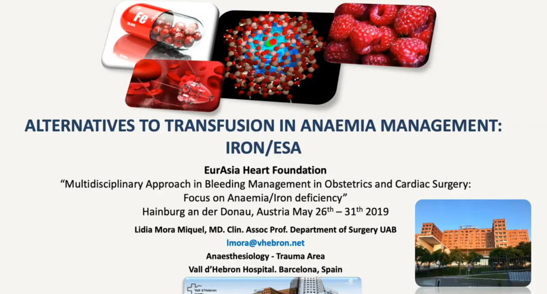 Alternatives to Transfusions in Anemia Management - Iron - ESA