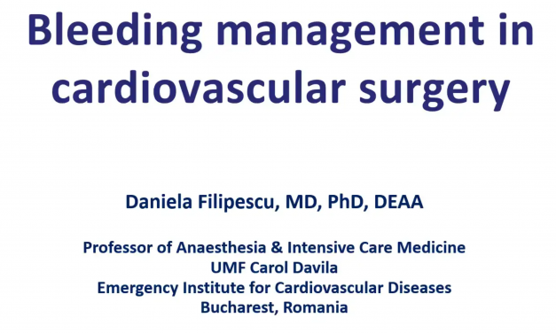 Bleeding Management in Cardiac Surgery – Anesthesiology Perspective