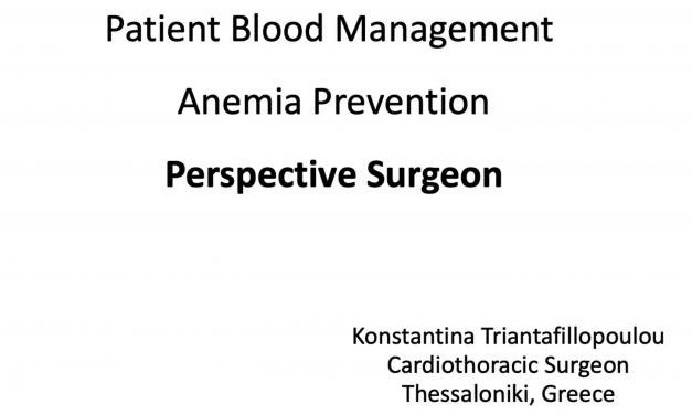 PBM – Anemia Prevention – Perspective Surgeon