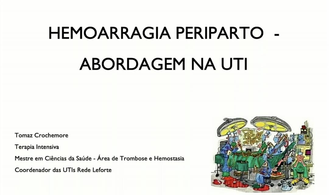 Peripartum Haemorrhage - Approach in the ICU